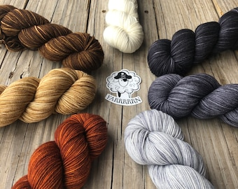 Hand Dyed DK Yarn | Dyed To Order | DK Treasures | Neutrals