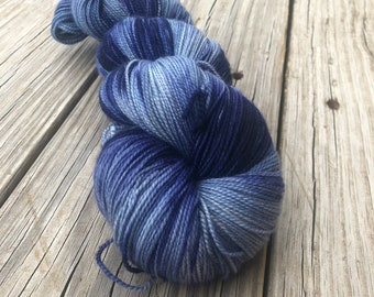 Cashmere Super Toes Sock Yarn   sky blue navy   At Sea   600 yards