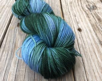Cashmere Super Toes Sock Yarn   blue green teal   Lagoon   600 yards