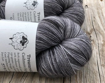 Ghost Ship, Cashmere Super Toes Sock Yarn, 80/10/10 swm/nylon/cashmere, 600 yards