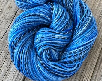 Sky Blue Hand Dyed DK Yarn, Peruvian Highland Wool, Fair Winds for Sailing, Pirate Sheep Dk Yarn