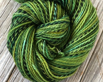 Forest Green Hand Dyed DK Yarn, Peruvian Highland Wool, Everglades Excursion, Pirate Sheep Dk Yarn