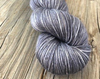 Hand Dyed Silk Yarn, Ghost Ship, gray, fingering weight yarn