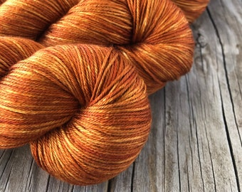 Pure Silk Yarn, Copper Cove, fingering weight yarn