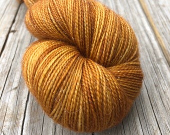 butter rum Hand Dyed Sparkle Sock Yarn, Why is the Rum Gone? Sparkle Toes