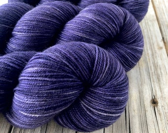 Hand Dyed YAK Sock Yarn, purple, Amethysts in the Abyss, Treasured Yak Toes