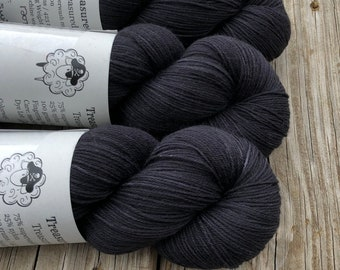 Don't Swim at Night | Treasured Toes Sock Yarn | black gray