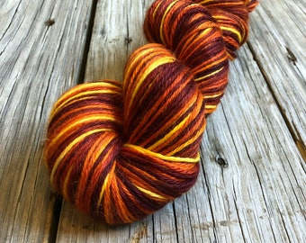 Hand Dyed Treasured DK Luxe Yarn Sailing into the Sunset colorway 246 yards baby alpaca silk cashmere luxury yarn sport weight