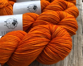 Orange Hand Dyed DK Yarn, Lusty Wench, DK Treasures