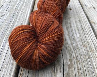 Copper Cove | Treasured Toes Sock Yarn | burnt orange copper