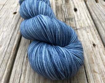 light blue Hand Dyed DK Yarn, Tempest, DK Treasures