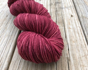 magenta wine Hand Dyed DK Yarn, Song of the Sirens, DK Treasures