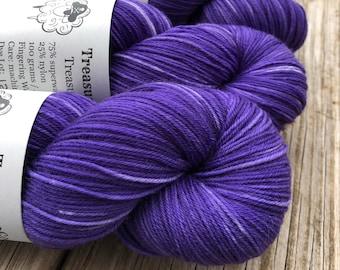 King's Cloak | Treasured Toes Sock Yarn | royal purple