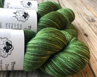 Forest Green Yarn | Everglades Excursion | Treasured Toes Sock Yarn | 75/25 swm/nylon