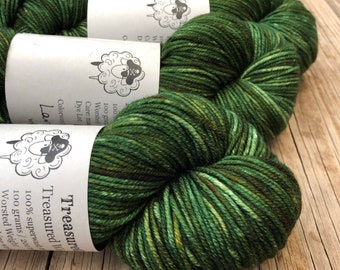 Land Ho! | Treasured Warmth Worsted Weight Yarn | forest green