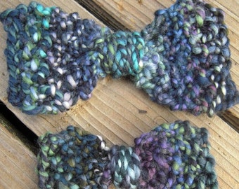 PDF Handspun Yarn Knitted Hair Bows knitting pattern Digital Download SELL items made from this