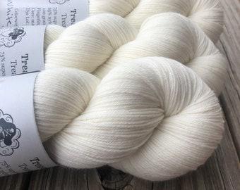 White Sand Beaches | Treasured Toes Sock Yarn | natural cream ecru