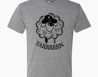 Pirate Sheep YARRRRRN tri blend t-shirt