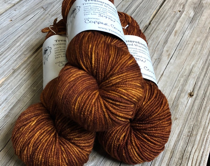 Featured listing image: Copper Cove, Worsted Weight Yarn, Treasured Warmth, 100% swm
