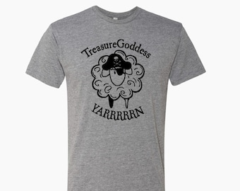 Treasure Goddess Pirate Sheep YARRRRRN tri blend t-shirt