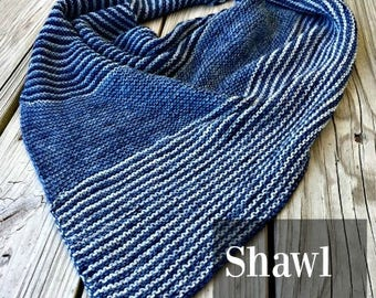 PDF Navigation at Sea Shawl Knitting Pattern Sock Yarn Digital Download Fingering Weight sockyarn shawl pattern gradient yarn hand dyed swm