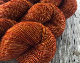 Hand Dyed YAK Sock Yarn, Copper Cove, Treasured Yak Toes