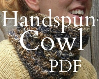 Handspun Cowl Knitting Pattern PDF Digital Download TreasusreGoddess Sidewinder Cowl Christine Long Derks