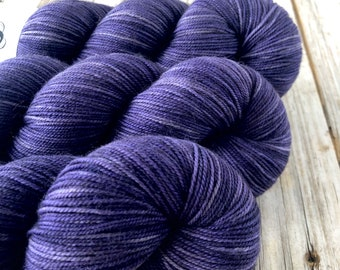 Hand Dyed YAK Sock Yarn, purple, King's Cloak, Treasured Yak Toes