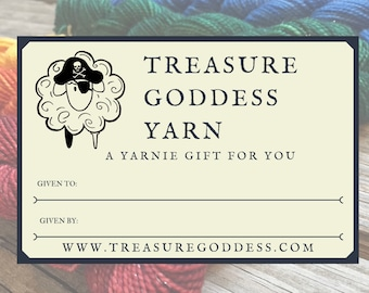 Gift Card | Treasure Goddess Yarn | Gift Certificate