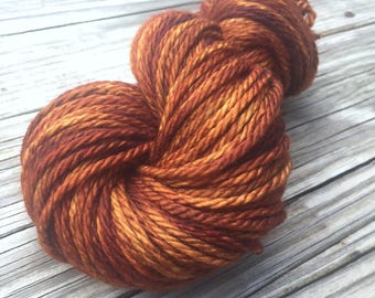 Hand Dyed Bulky Yarn, Copper Cove, Big Treasures