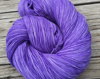 Avast ye Wildcats! purple hand dyed sock weight yarn Shawl Length Superwash Merino Cashmere Nylon 600 yards lilac violet ready to ship yarn