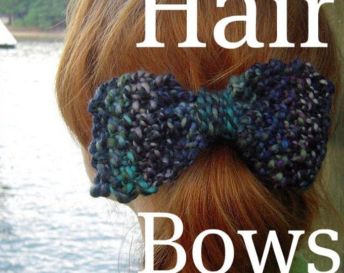 PDF Handspun Knitted Hair Bows knitting pattern Digital Download SELL items made from this