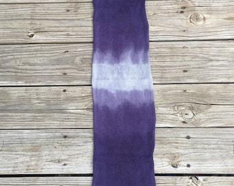 hand dyed sock blank OOAK single strand sock yarn blank self striping 463 yards superwash merino nylon swm charcoal gray dark purple grey