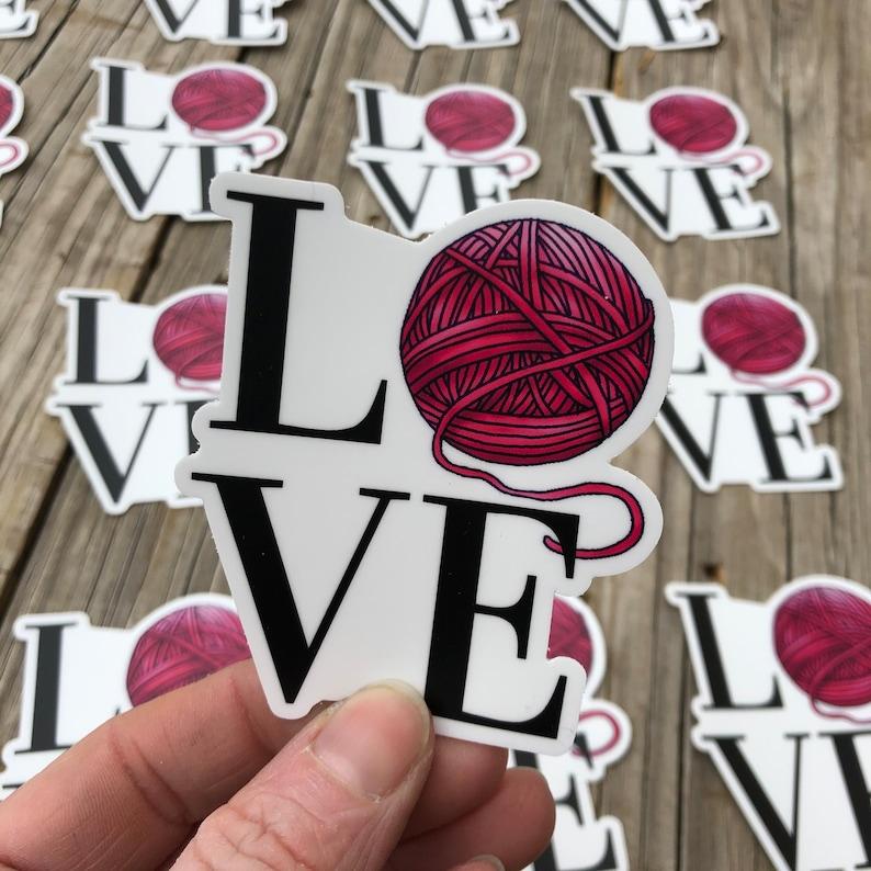 Yarn Love Sticker Yarn Sticker Vinyl Sticker Water-proof image 0