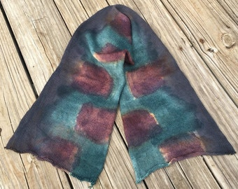 hand dyed sock blank OOAK single strand sock yarn blank Treasured Toes 463 yards superwash merino nylon swm forest green chestnut brown gray