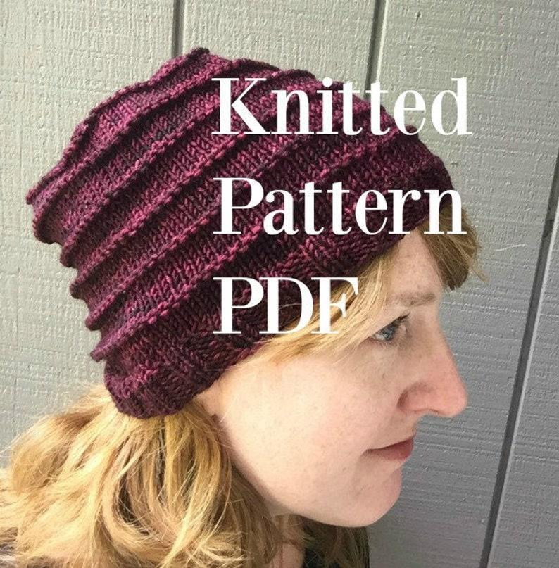 One Skein Hat Knitting Pattern Treasured Warmth Hat bulky yarn image 0