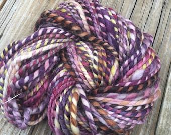 Dead Men Tell No Tales Handspun yarn Soft Superwash BFL Wool Nylon Yarn Bulky Weight gold green burgandy pink Two Ply 2 Ply 57 yards