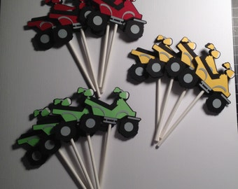 4 Wheeler Cupcake Toppers