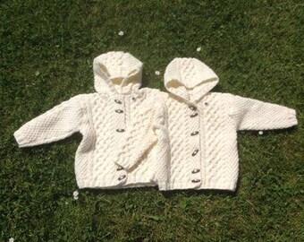 Irish Aran Jacket w/Hood