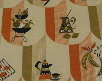 60s Vintage Kitchy Kitchen Fabric