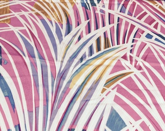 SALE - 70s Thompson Of California// Zizzling Tropical// Palm Leaf Abstract Print//Brilliant Neon Colors//All Cotton//BTY