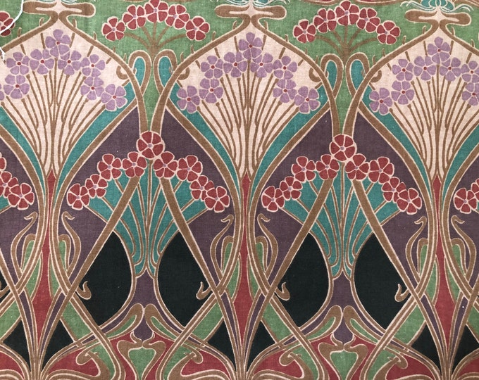 """Featured listing image: Classic Liberty of London """"""""Ianthe"""" Art Fabric Tana Lawn//Exclusive Design//Art Nouveau Style"""