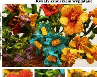 In Polish Language: How to make Macrame Flowers? BOOK