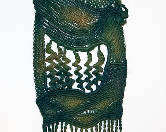 Macrame Wall Hanging Art 'Deep Sea' - Handmade with hemp string