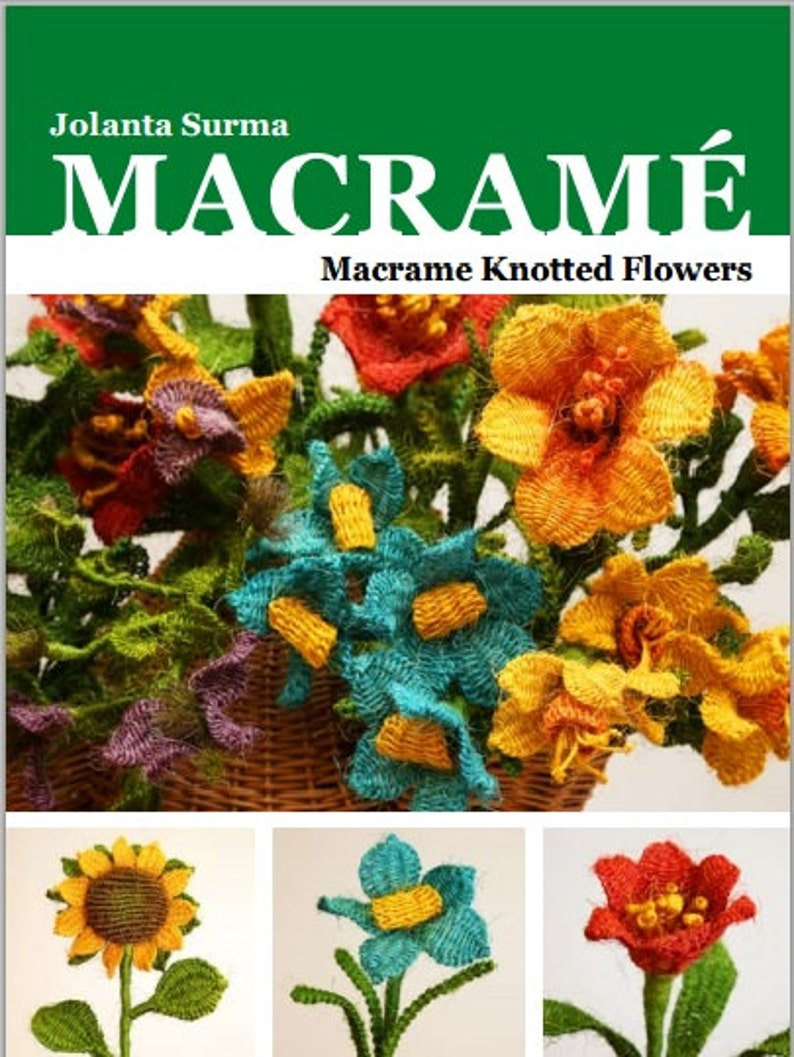 How to make Macrame Flowers  Macrame Knotted Flowers E-Book image 0