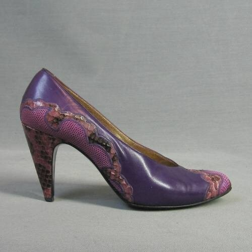 talons vintage Violet carlos falchi peau de de peau serpent l eb8885
