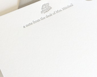 Personalized Letterpress Stationery | A Note From The Desk Of