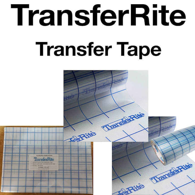 CLEAR Transfer Tape w/Grid  10 sheets  12x12  image 0