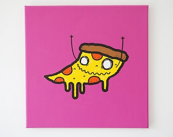 PIZZA - 12x12 - original painting, ready to ship