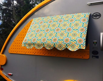 2-Window T@b 320 (or equivalent) Trailer Window Awning - you choose fabric (Tab)